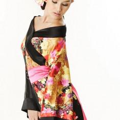 W33 Lenjerie kimono cu model floral - Costum dans, Marime: S