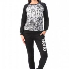 V546-118 Compleu sport ce include bluza cu imprimeu si pantaloni lungi - Top dama, Marime: S