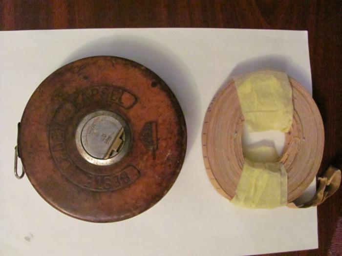 Rezerva, 20 metri, din panza, pt. ruleta veche (din aceea in carcasa piele maro)