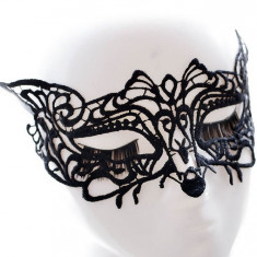 MSK74-1 Masca din broderie neagra Sultry Fox - Masca carnaval