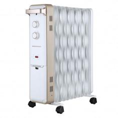 Calorifer electric cu ulei 2500W, temperatura reglabila, 11 elementi, 4 roti, Heinner - Aeroterma