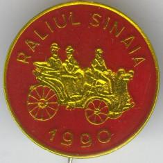 Insigna RALIUL SINAIA 1990 - MASINI DE EPOCA
