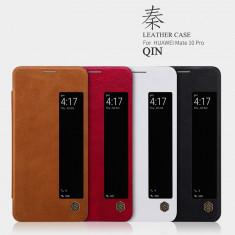 Husa HUAWEI Mate 10 Pro Qin Lether by Nillkin Black - Husa Telefon Huawei, Negru, Piele Ecologica, Cu clapeta, Toc