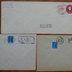 10 plicuri FDC , prima zi , comuniste si un plic american