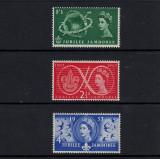 ANGLIA  COLONII BRITANICE 1957 - JUBILEU SERIE MNH, Nestampilat