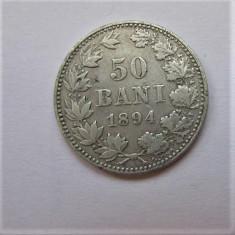 V- 50 bani 1894, frumos! - Moneda Romania, Argint