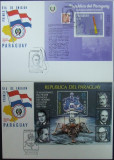 PARAGUAY - COSMOS (APOLLO XI) CU HERMAN OBERTH, 2 FDC  - PG 071, Spatiu