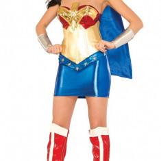 B421 Costum tematic Wonder Woman - Costum Halloween, Marime: S/M