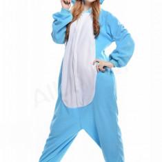 PJM50 Pijama intreaga kigurumi, cu model hipopotam - Pijamale dama, Marime: M, M/L