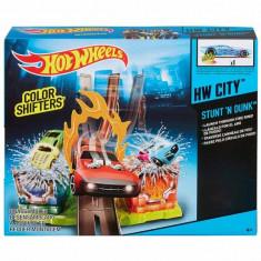 Jucarie Pista Hot Wheels Stunt N Dunk Colour Shifters BHN11 Mattel - Masinuta