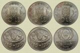 Set complet 3 monede romanesti comemorative, 10 lei 1995 si 1996, UNC