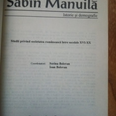 Sabin Manuila - Istorie si demografie (volum omagial, istoria Transilvaniei etc)