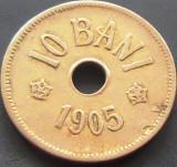 Moneda 10 Bani - ROMANIA, anul 1905  *cod 5089