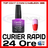 TOP COAT CANNI CAMELEON ROSU 386 7.3ML - LUCIU FINAL - MANICHIURA GEL UV