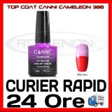 TOP COAT CANNI CAMELEON ROSU 386 7.3ML - LUCIU FINAL - MANICHIURA GEL UV