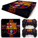 Skin / Sticker FCB Barcelona Playstation 4 PS4 FAT / SLIM + 2 Skin controlle, Huse si skin-uri