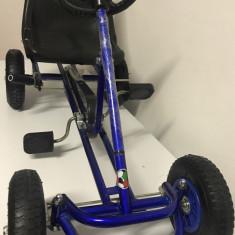 Kart Go Kart F100 cu pedale pentru copii 2-6 ani, albastru - Kart cu pedale
