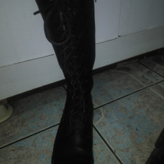 Bocanci rock damă - Bocanci dama, Culoare: Negru, Marime: 37