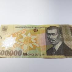 500000 lei 2000 semnatura Isarescu, bancnota polimer Romania - Bancnota romaneasca