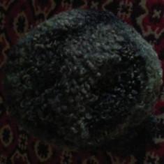 Caciula din blana naturala, pt barbati, anii 70, alb gri,, Marime: XL