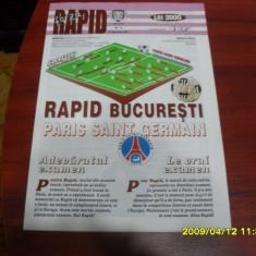 Program Rapid - PSG - Program meci