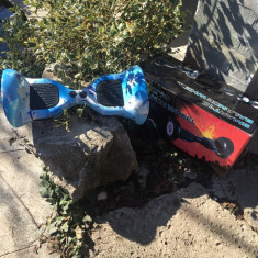 HoverBoard Off Road Blue Water 10 inch cu Bluetooth, Telecomanda