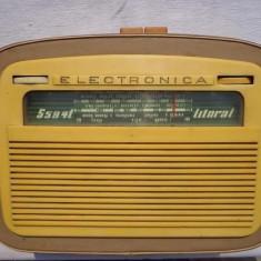 RADIO LITORAL S594T ,ELECTRONICA , FUNCTIONEAZA VECHI SI FOARTE RAR .ANUL 1959.