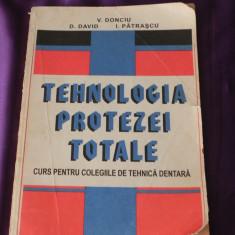 Tehnologia protezei dentare totale - V Donciu, D David, I Patrascu (f0869