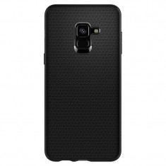 Husa Samsung Galaxy A8+ 2018 Spigen Liquid Air 591CS22757 - Husa Telefon SPIGEN, Negru, Silicon, Fara snur, Toc