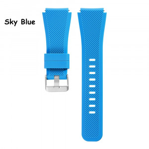 Curea silicon 22mm smartwatch Samsung Galaxy Gear S3 Classic Frontier ALBASTRU