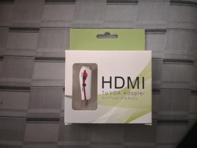 Adaptor HDMI la VGA cu Audio foto