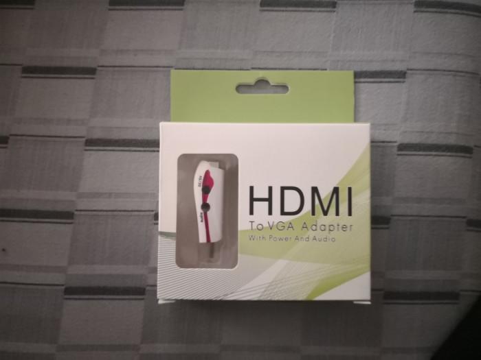 Adaptor HDMI la VGA cu Audio