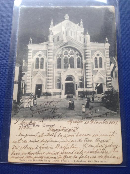 Brasov 1903 Sinagoga Evreiască RARA !!! foto mare