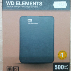 HDD extern Western Digital WD Elements Portable, 500GB, 2.5