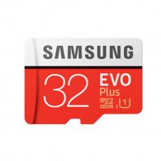 Card Samsung microSDHC EVO Plus 32GB UHS-I U1 cu adaptor SD - Card memorie foto