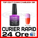 TOP COAT CANNI CAMELEON PORTOCALIU 391 7.3ML - LUCIU FINAL - MANICHIURA GEL UV