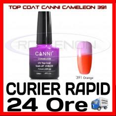 TOP COAT CANNI CAMELEON PORTOCALIU 391 7.3ML - LUCIU FINAL - MANICHIURA GEL UV