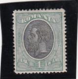 ROMANIA 1900/08  LP 54 p  CAROL I SPIC DE GRAU VALOAREA 1 LEU, Nestampilat