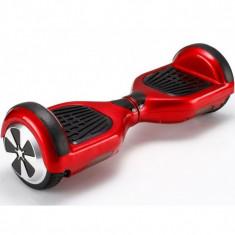 Hoverboard Red-Rosu 6.5 inch cu geanta cadou, lumini zi /noapte.