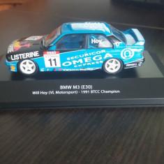 Macheta metal rallye bmw m3 e30 ursulet winner btcc 1991 - atlas, scara 1/43 - Macheta auto