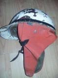 Casca originala veche moto,casca motociclist antica/retro de colectie,T.GRATUIT