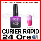 TOP COAT CANNI CAMELEON ROZ 387 7.3ML - LUCIU FINAL - MANICHIURA GEL UV