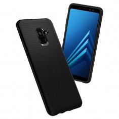 Husa Samsung Galaxy A8 2018 Spigen Liquid Air 590CS22747 - Husa Telefon SPIGEN, Negru, Plastic, Fara snur, Carcasa