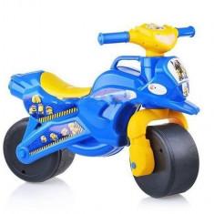 Motocicleta de curse Doloni cu minioni cu sunete si lumini, albastru cu galben