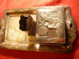 Set de birou pt fumat- Japonia- tavita ,cutie tutun , suport chibrit -ornamentat