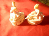 2 Casete bijuterii din portelan cu Balerine , dim. = 6,5x9 cm