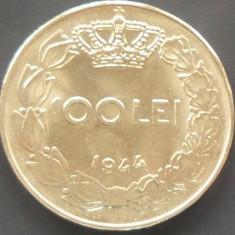 Moneda 100 Lei - ROMANIA, anul 1944 *cod 1037 A.UNC+ - Moneda Romania