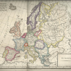 HARTA EUROPA - anul 1822