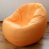 Puf portocaliu, fotoliu cu husa detasabila din material textil