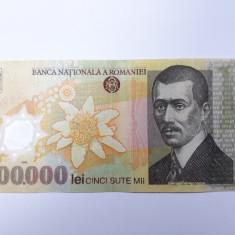 500000 lei 2000 semnatura Ghizari, bancnota polimer Romania - Bancnota romaneasca